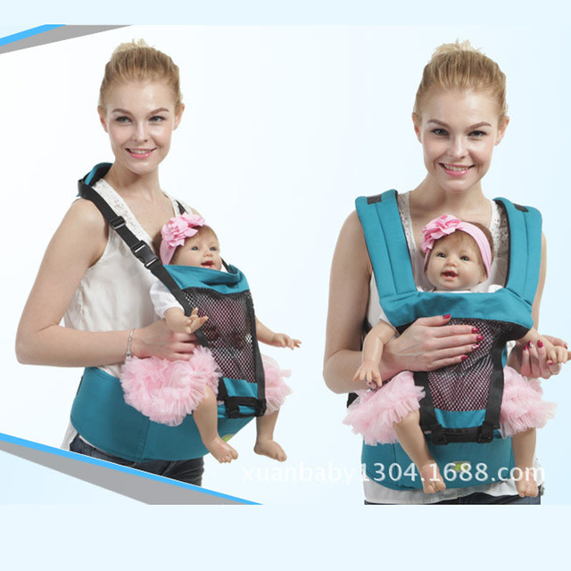 5965bad2e16 3-24 Months Breathable Multifunctional Front Facing Baby Carrier Infant  Comfortable Mesh fabric Sling Backpack Push Wrap Baby