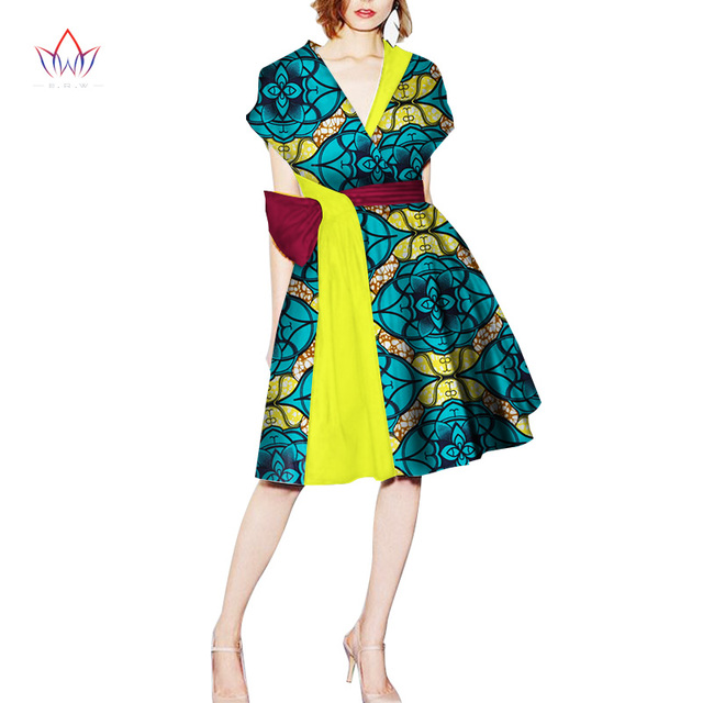 7d50ecb95363 african style dress for women in african clothing v-neck african women clothing  casual traditional african dress natural WY2449