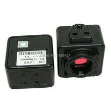 Envío gratis industria Industrial microscopio digital cámara lupa USB salidas de vídeo de 2.0MP c-mount Interfaz con la línea DEL USB