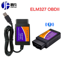 2017 nieuwste versie V2.1 MINI OBDII auto diagnose scanner tool ELM327 Bluetooth Android automatische OBD ELM 327 Bluetooth + USB