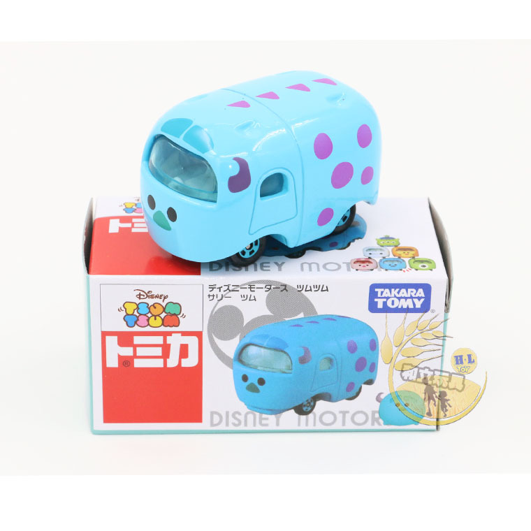 Disney Toys Tomy Tomica Motors Tsum Tsum Cartoon Movies Monsters James P.Sullivan 1:64 Scale Diecast Metal Alloy Modle  Toy