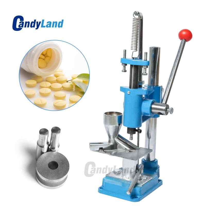 CandyLand Mini Hand Pill Press Stamp Machine Lab Professional Tablet Manual Punching Machine Sugar Slice Punch Maker