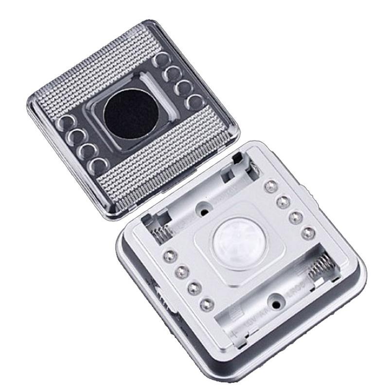 Scolour New Auto PIR 8 LED Light Silver Sensor Sensitivity Motion Detector Lamp for Home lampada led