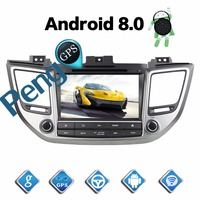 4G+32G Octa Core 2 Din Stereo Android 8.0 Car Radio for Hyundai Tuscon IX35 2015 2016 GPS Navigation CD DVD Player Bluetooth