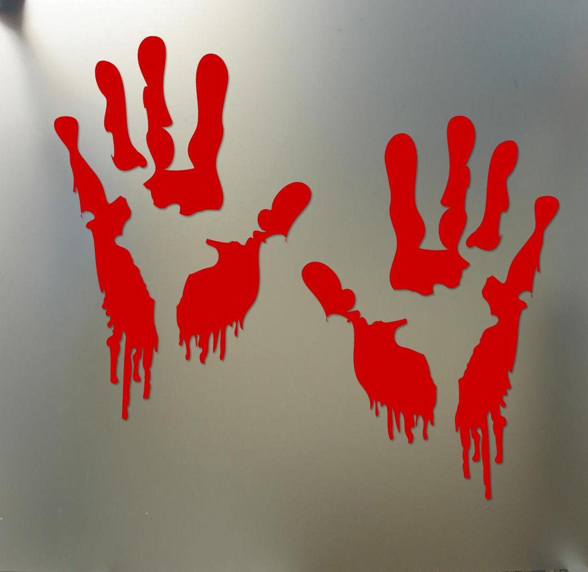 BLEEDING HAND HALLOWEEN Vinyl Decal Car Sticker Wall CHOOSE SIZE COLOR