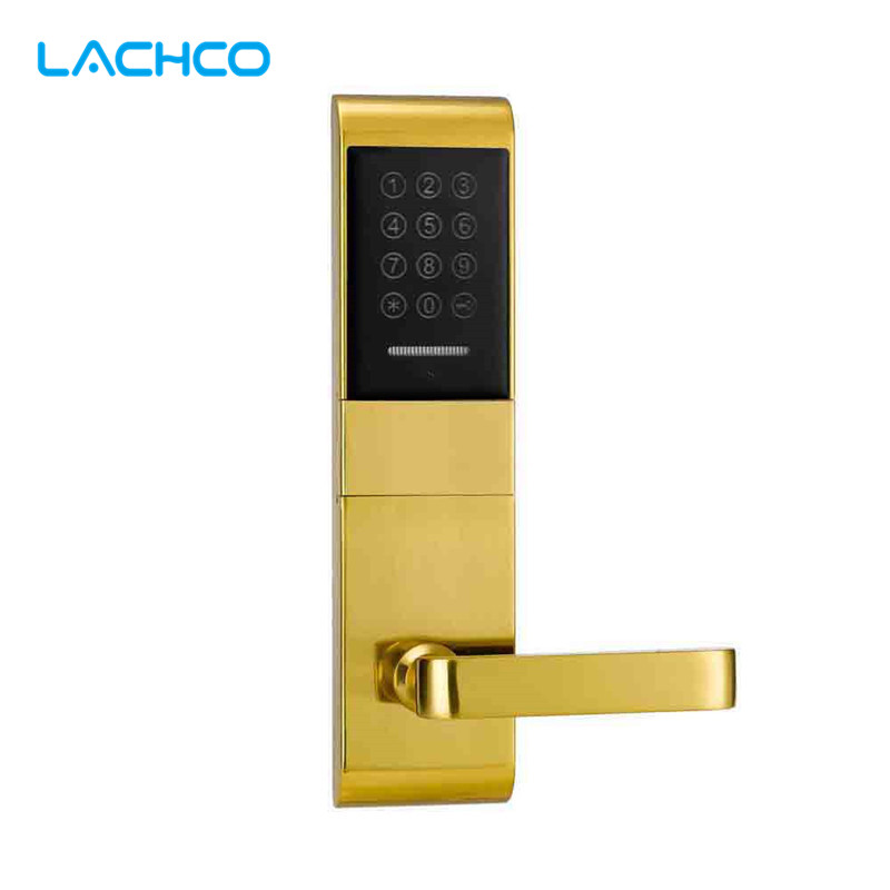 LACHCO Electric Door Lock Touch Screen Password, Card, Key Digital Code Electronic Lock Smart Entry  L16078SG ospon digital keypad door lock with backup round key locker electronic entry by password code combination password key os7717