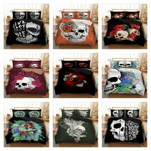 wholesale skull Bedding set Duvet Cover Twin queen king size 10 a lot Home Textiles