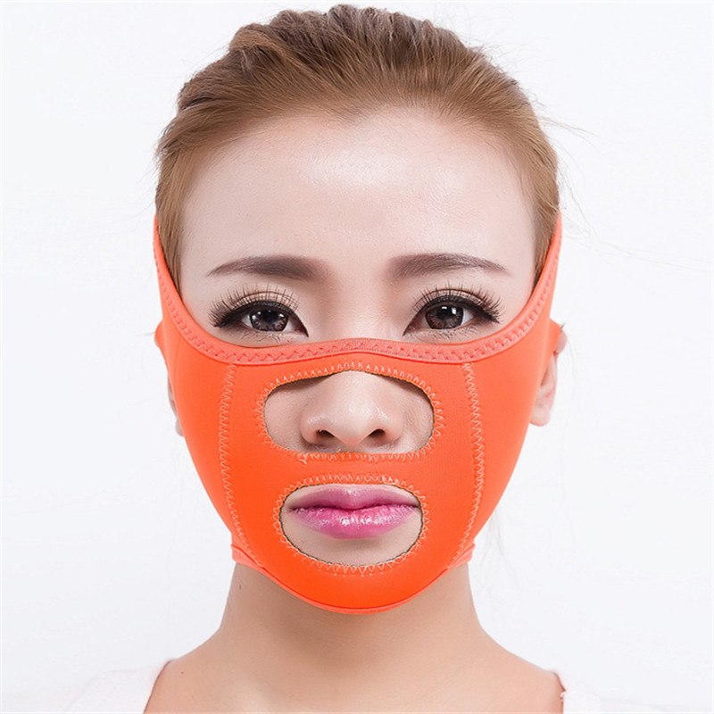 Non-slip Breathable V-Face Slimming Fat Burner Weight Loss Belt Prevent Doublechined Mask Bandage Beauty Tool T230OLD