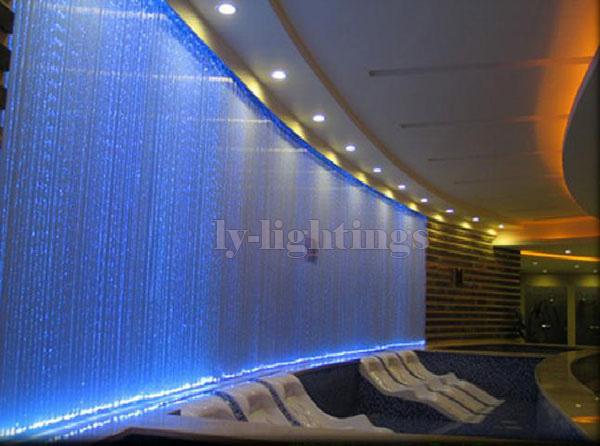 For decoration lighting optic fiber cable end glow plastics 0.75mmx50pcsx2m clear optical fibre plastics line