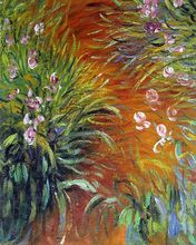 Irises by Claude Monet Handpainted