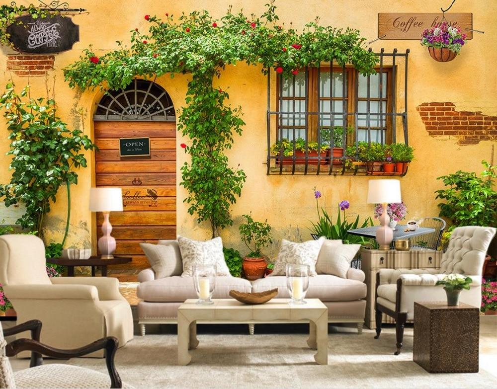 Aliexpress Com Buy Large Custom Mural Wallpapers Living: Custom 3d Wallpaper Murals Continental Cafe Custom Photo