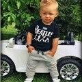 Лето 2016 2 шт. Новорожденного Младенца Мальчики Детская Одежда Футболки Топы + Брюки Костюмы Устанавливает 0-24 Детей Комплект Одежды