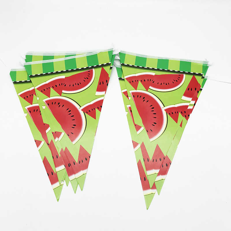 10pcs/pack Watermelon theme party banners kids birthday party baby shower decorations Watermelon banners