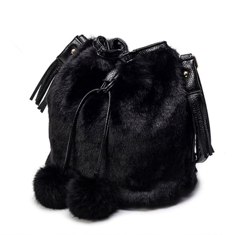 2017 New Winter Rabbit Fur Bags And Buckets of Pumping With Bags Manufacturers Supply Wholesale Plush Korean Style Young Women steven goldberg h billions of drops in millions of buckets why philanthropy doesn t advance social progress