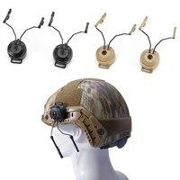 Preto z-tactical capacete ferroviário adaptador conjunto para fone de ouvido comtac capacete militar peltor comtac fones de ouvido helm ferroviário airsoft