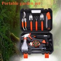 10pcs Set Gardening Tool Garden Shovel Rake Clippers Sprayer Portable For Farming Planting ALI88