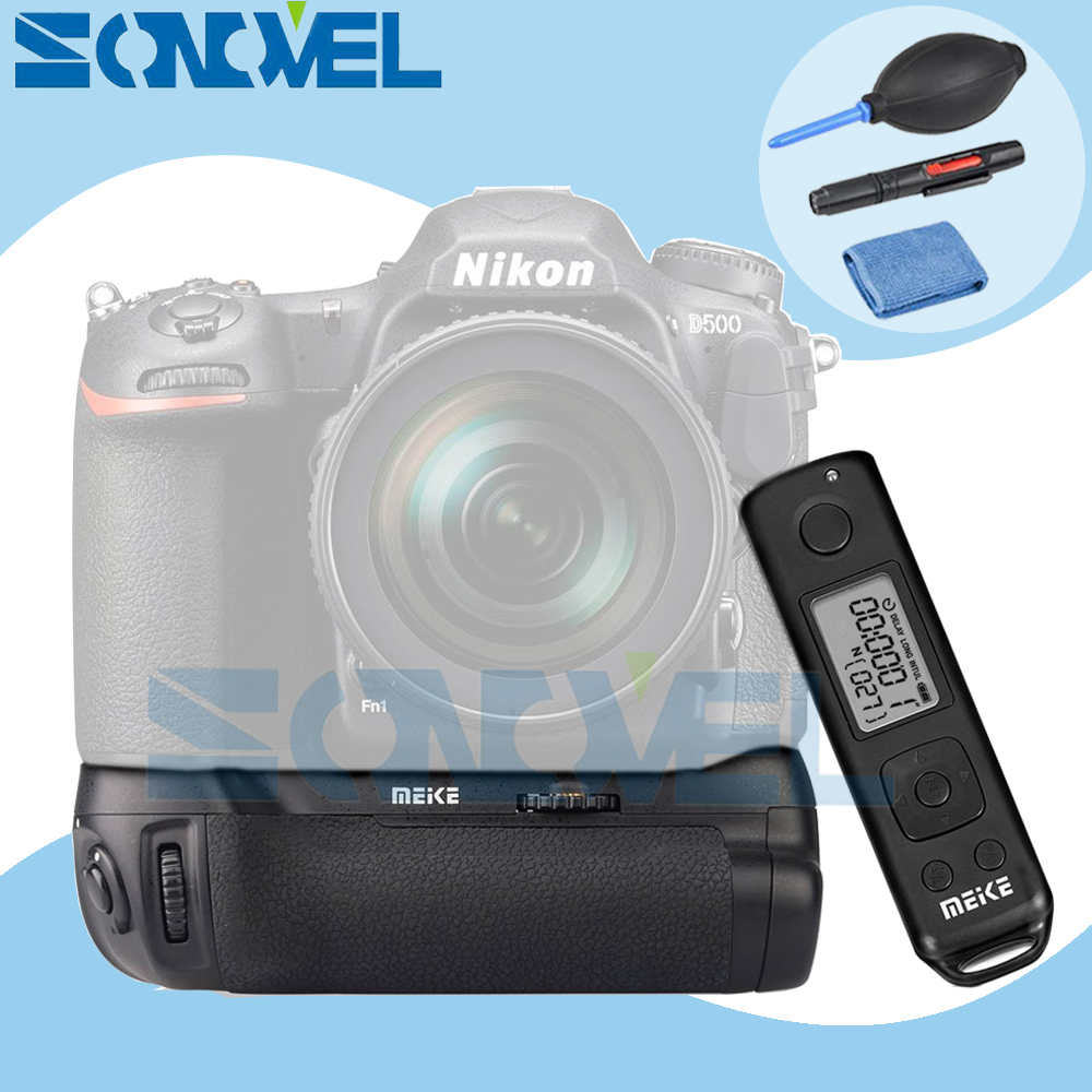 Meike MK-D500 Pro Vertical Battery Grip Built-in 2.4GHZ FSK Remote Control Shooting for Nikon D500 Camera  as MB-D17 meike vertical battery grip for nikon d7200 d7100 rechargeable li ion batteries as en el15 017209