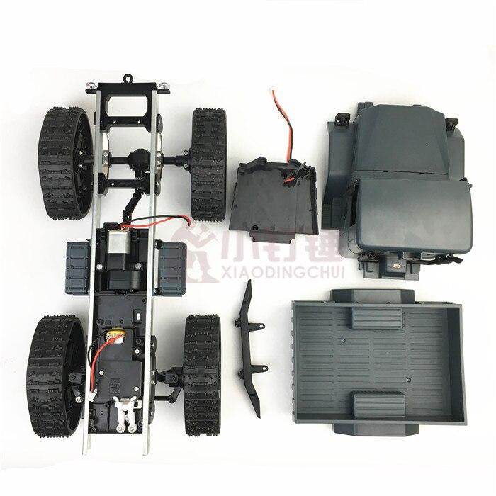 Roue de chenille en caoutchouc Robot châssis camion quatre roues escalade bricolage Kit de voiture modifié