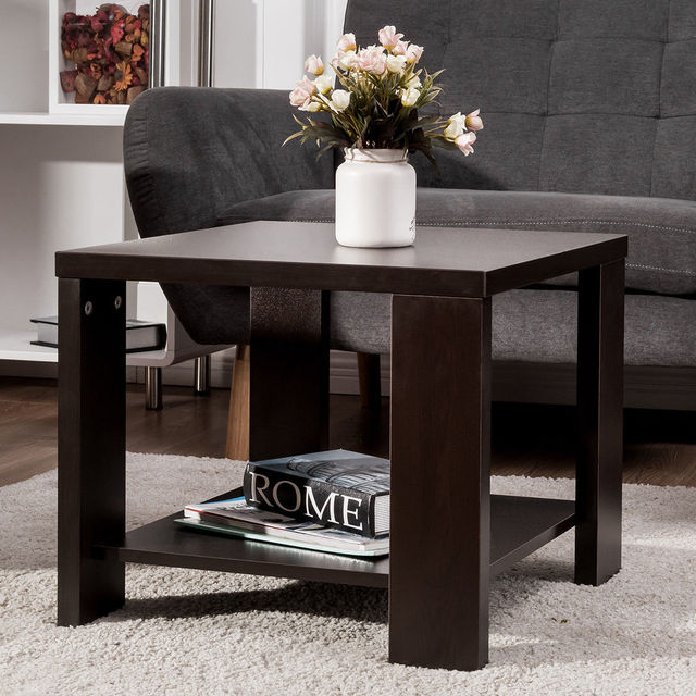 Giantex Living Room End Coffee Table Square Sofa Side Coffee Tea