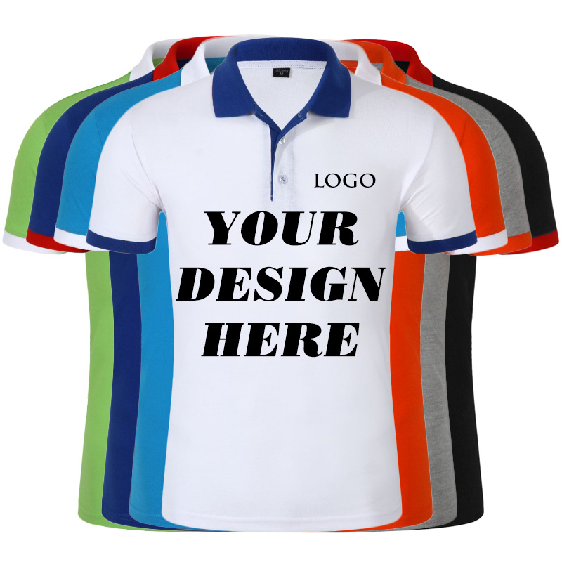 Summer Men Custom Print Short Sleeve Horse Polos Shirts Cotton Men Short Sleeve High Quantity Polo Men Business Shirt 13 Colors