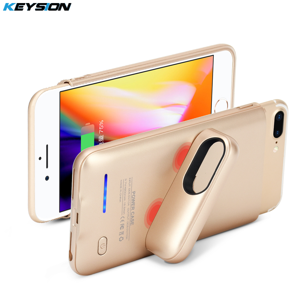 Keysion Transportable Charging Case For Iphone eight 7 6 6S Plus 3000/4200Mah Battery Energy Financial institution Battery Charger Case Cowl For I8 7P 6P