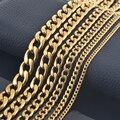 ¡Nuevo diseño! Cadena moderna para hombres oro 18K, plata 316, acero inoxidable;  Collar para mujeres, Joyería personalizada
