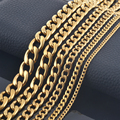 Novo design masculino 18 Quilates banhado a ouro 316 aço inoxidável corrente colar, mulheres de época pingente colar corrente jóias personalizar