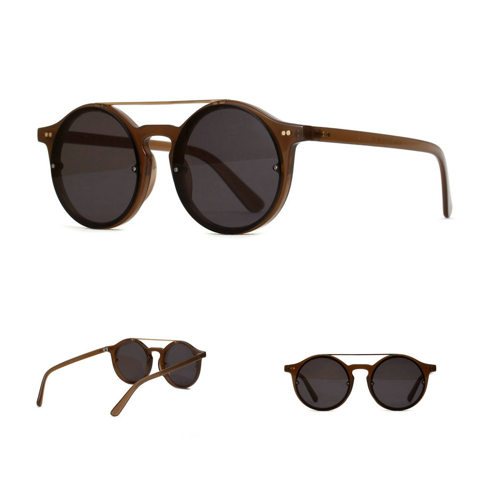 ea4b4145f48 MINCL Vintage Double Bridge Sunglasses Women And Mens Retro Hip Hop  Sunglasses Red Brown Grey Clear Lens UV400 gyw-in Sunglasses from Apparel  Accessories on ...