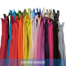 цена 15Pcs 3# 24 Colors Invisible Nylon Lace zipper 60CM Back Skirt Hidden Zipper Zippers For Sewing DIY Sewing accessories 2-006