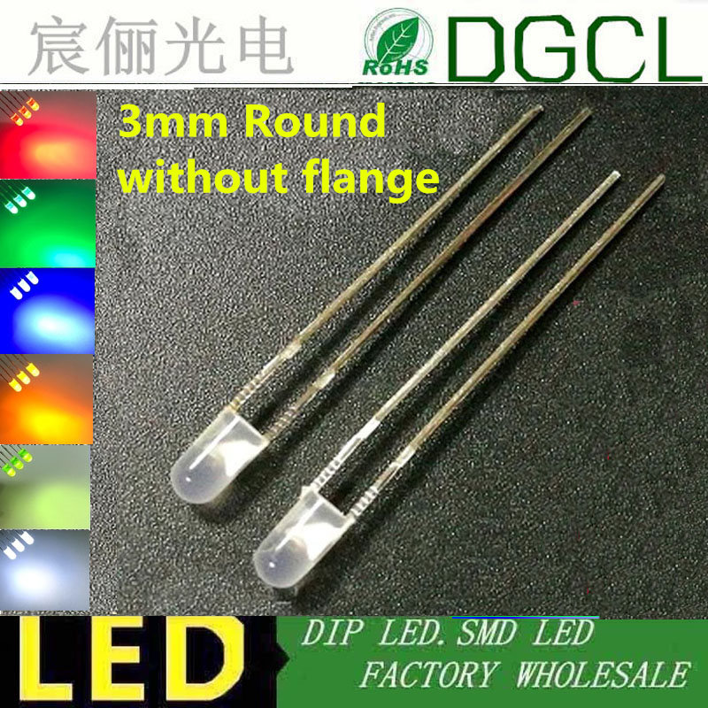 12 Volt 3mm Blue LED/'s with White Diffused Lens Pack of 5