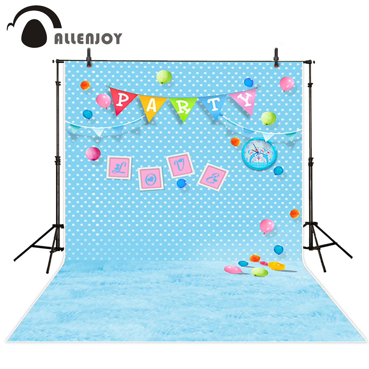 Allenjoy photography background birhday party flags kids balloons dots photobooth photo studio newborn original design allenjoy background for photo studio full moon spider black cat pumpkin halloween backdrop newborn original design fantasy props