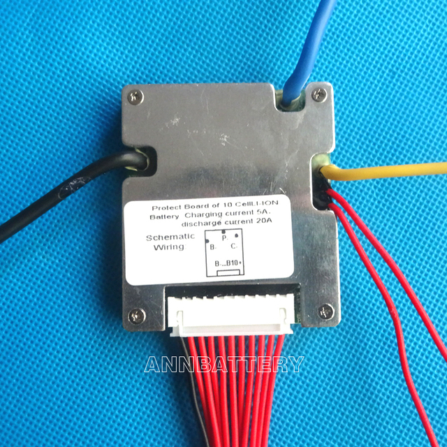 36V li-ion battery BMS, 36V 20A lithium ion batteries BMS, With balanced function and ON/OFF switch.