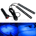 New Blue 2X12 LED Car Interior Footwell Floor Decor Atmosphere Light Neon Strips
