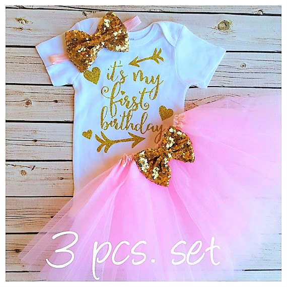 25f7daafb02f personalized it s my first birthday Newborn infant bodysuit onepiece Tutu  Dress romper Outfit Sets baby shower party favors