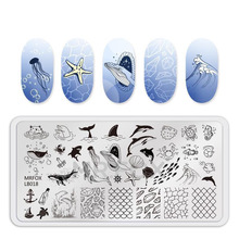 1PC Nail Stamping Plate Template Animal Bird Flower Leaf 3D Pattern Stamp Plates For Polish