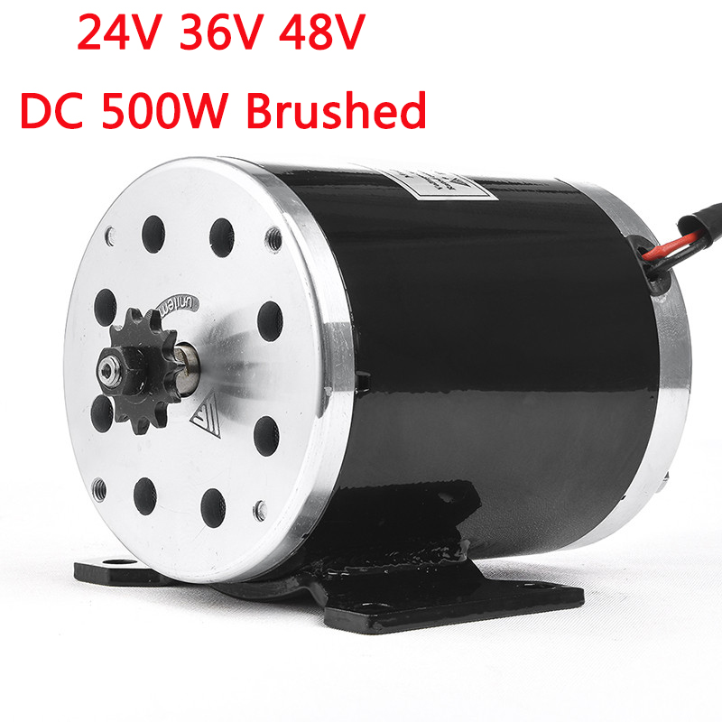 <font><b>500W</b></font> 24V 36V 48VDC <font><b>Electric</b></font> <font><b>Scooter</b></font> Brushed Speed <font><b>Motor</b></font> 2500RPM 1.9N.m <font><b>Electric</b></font> Bicycle Tricycle Motocycle <font><b>Motor</b></font> Parts MY1020 image