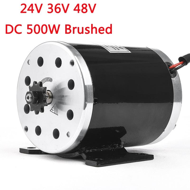 500 watt 24 v 36 v 48VDC Elektrische Roller Brushed Speed Motor 2500 rpm 1.9N.m Elektrische Fahrrad Dreirad Motorrad Motor teile MY1020