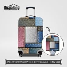 Dispalang imperméable à l'eau élastique housse de protection pour 18-30 pouces trolley valise cas sur voyage bagages denim plaid couvre