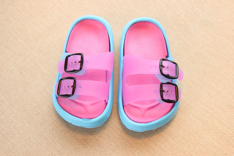 Slippers Kids for Girls Beach Sandals Summer Baby Slippers Boys Flat House Flip Flop Children Non-slip Korea Home Casual Shoes 16