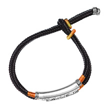Handmade Braided Bracelet For Men 999 Sterling Silver