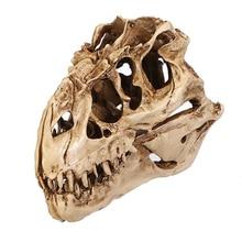 ZOOYOO изделия из смолы окаменелось со скелетом диназавра преподавания скелет модель Хэллоуин офис Хэллоуин украшения Прямая доставка
