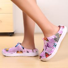 Women Ladies Butterfly Beach Sandals Hollow Casual Breathable slippers Flats Shoes hole shoes beach sandals rain boots slip-on(China)