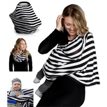 16 Styles Multi-use Cotton Stretchy 3 in 1 Gift Baby Car Seat Cover Canopy Mother Nursing Cover Infinity Scarf