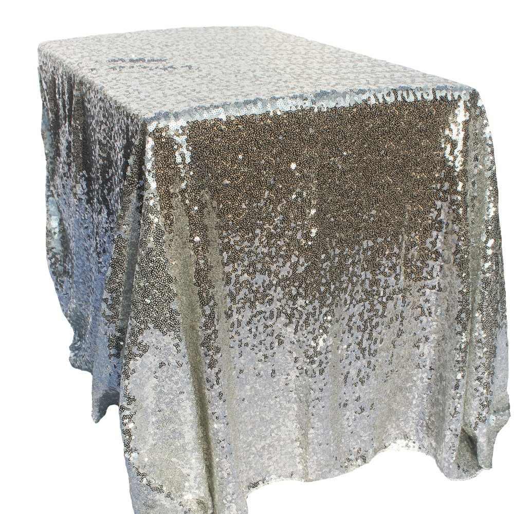 100x150 cm Ouro Retângulo Estilo de Lantejoulas Toalha De Mesa Para O Casamento/Festa/Banquete Toalha De Mesa De Casamento Decoração