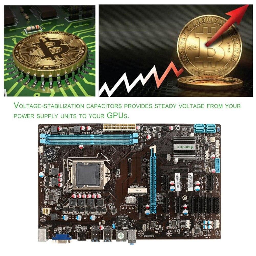 B250 BTC11 добыча материнской платы с 11 разъёма PCI Express для монет добыча Crypto добыча Графика карты компьютера добыча доска