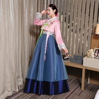 elegant pink women hanbok korean traditional dress korean costumes national costume cotton hanbok Embroidery asia clothing