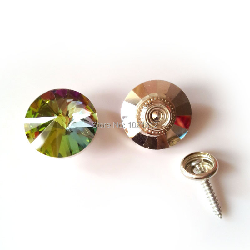 10pcs 20mm Colorful Satellite Pattern Crystal Sofa Button Self