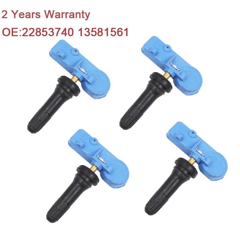 YAOPEI 4pcs For Buick Cadillac Chevrolet TPMS Sensor 13581561 13581562 20922901 22853740 433MHZ Tire Pressure Monitoring