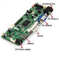 M NT68676 2A HDMI DVI VGA Audio LCD LED Controller Board Kit For DIY Panel 12