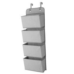 Miękka tkanina nad drzwiami wiszące bagażu organizator z 4 duże kieszenie na szafy w sypialni przedpokój prysznic w Składane torby do przechowywania od Dom i ogród na